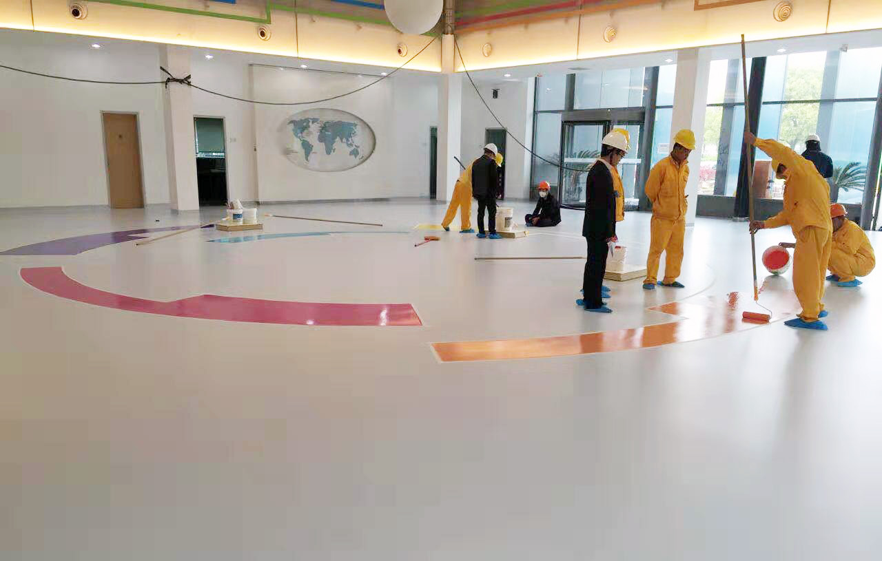 Cemimax Flooring in Building Lobby